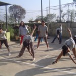 women & girls doing physical training